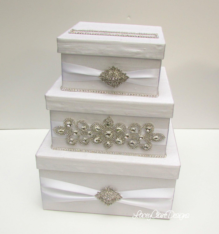 Wedding Card Boxes To Make: Wedding Card Box Bling Card Box Rhinestone Money Holder