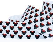 CLEARANCE SALE*FREE Shipping* 3 yards x 22mm Grosgrain Ribbon, Disney Minnie Ribbon,Minnie with Ribbon Hair Bow, Hair Bow Ribbon,