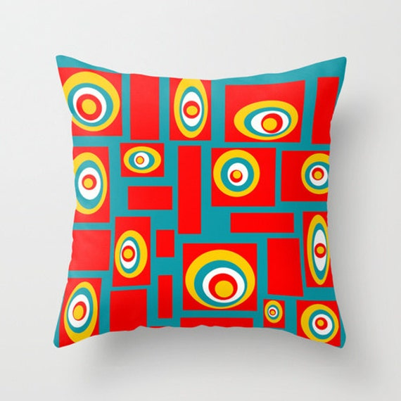 Mod Throw Pillow Mid Century Modern PillowCool Pillow Mod