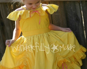 Yellow Princess Dress Inspired by Belle