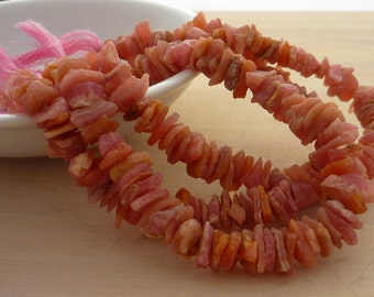 Awsome rough rhodochrosite nugget beads 5-10mm 1/2 strand