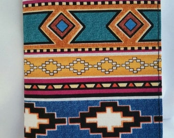 Multi-colored Southwestern Print Checkbook cover