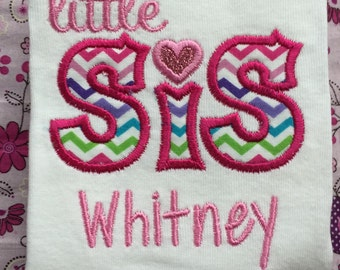 Boutique Personalized Littlr Sister Onesie