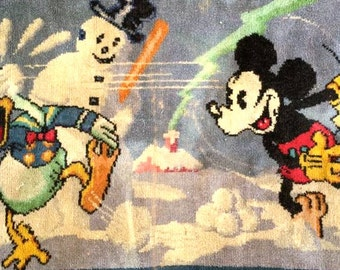 1938 Walt Disney Winter Baseball Rug/Tapestry