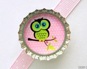 Owl Bottle Cap Magnet, owl magnet, owl theme party supplies, owl baby shower favor, owl decor, owl birthday party favor, owl party favor