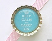 Keep Calm and Carry On Bottle Cap Magnet - fridge magnet, kitchen organization, keep calm magnets, keep calm and carry on magnet, art magnet