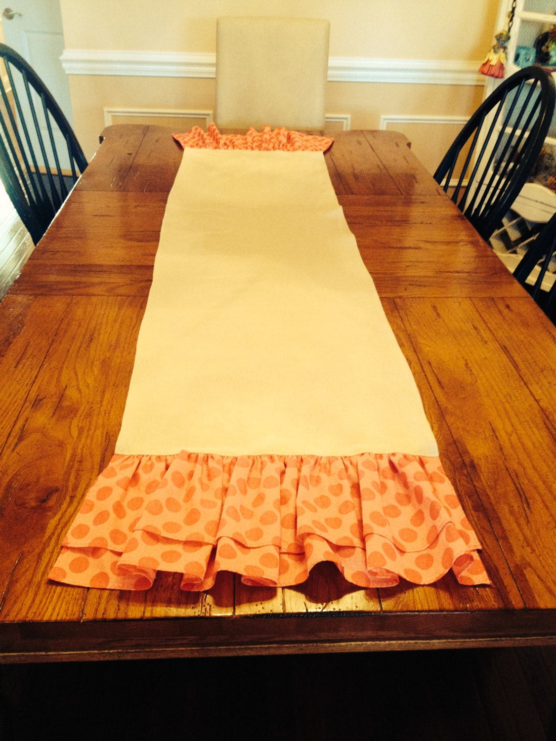 Table runner for 60 inch table 64 inch cotton blend fabric for 102 table runner