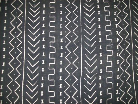 Black And White Traditional Mudcloth Bambara Mud Cloth