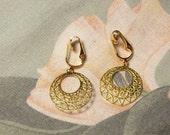 Lightweight Gold Hoop Clip On Earrings or Pierced
