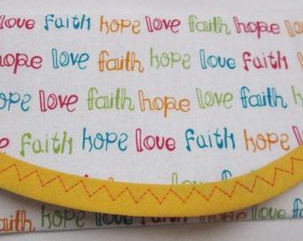 Wallet Money Clip, Faith, Hope, Love  Christian Crosses & Hearts Envelope Clutch, Pouch Coin purse Hand bag accessory, Bags Purses Christian