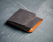 Minimal Leather Wallet- Brown Leather