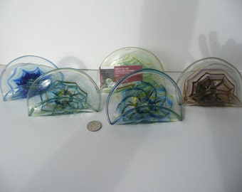 Card Holders, Blown glass card holder, Glass cardholder Free Shipping