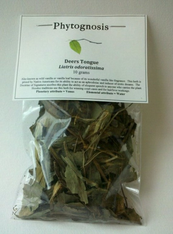 Deerstongue herb - Also known as Vanilla Leaf or Wild Vanilla - Used for love, lust, legal issues, and marriage