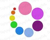Digitizing Dolls Dot Circle Solid Fill Machine Embroidery Design 1x1 1.5x1.5 2x2 2.5x2.5 3x3 3.5x3.5 4x4 4.5x4.5 5x5 INSTANT DOWNLOAD
