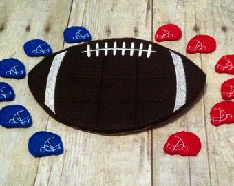 Football Tic Tac Toe Game, Kids Game, Handcrafted Game, Birthday Gift, Holiday Gift, Travel Game, Easter Basket Gift, Ready to Ship