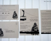 Ski Tram/Gondola/Chairlift Wedding Invitations-Rustic Kraft