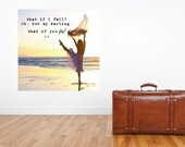 """Gallery Wrapped Canvas with Dancer, """"What if I Fall? Oh, But My Darling, What if You Fly?"""" with Wood Frame on Back for Easy Hanging"""