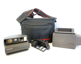Polaroid Camera Spectra System Law Enforcement Kit and Case - Film Tested Working