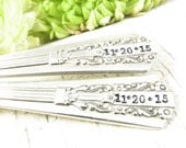 I Do Me Too. Hand Stamped Dinner Forks and Knives. Vintage Silverware. Wedding Table Decor and Photo Prop. Engagement  Shower Gift. 153WED