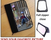 personalized kindle case/ kindle paperwhite/ kindle fire/ kindle oasis/ kindle voyage - full zipper HARD case - email your favorite picture