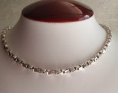 Twisted Box Chain Heavy Sterling Silver 30 Inch 5.5mm Vintage BC0127
