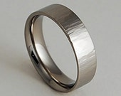 Wedding Band , Mens Titanium Ring ,  Promise Ring , Apollo Band with Comfort Fit Interior