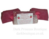 Strawberry and cucumber fragranced soap