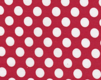 Fabric Finders Red with White Polka Dot Cotton Fabric