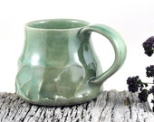 Coffee Mug Pottery Mug Tea Cup Handmade Ceramic Mug Green Unique Tableware