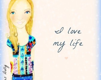 Muse Mantra Notecard - 'I love my Life'