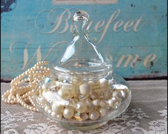 Small Glass Apothecary Jar / Wedding Candy Bar Buffet
