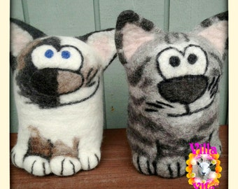 WILD KITTY Custom made Toy or Mascot from your cat photo - Made To Order approx 3 weeks