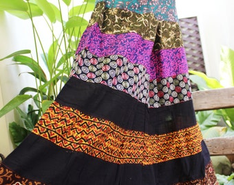 PATCHWORK Boho Gypsy Tiered Wide Leg Pants - PWF1504-05