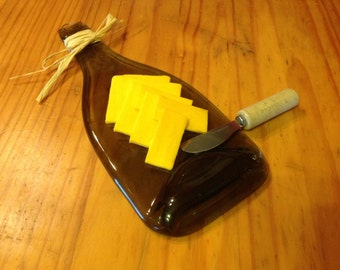 Fused 750ml Wine Bottle Cheese tray