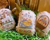 Spring Eggs V~Cross Stitch Pattern