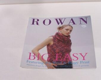 Rowan Big Easy pattern booklet OOP