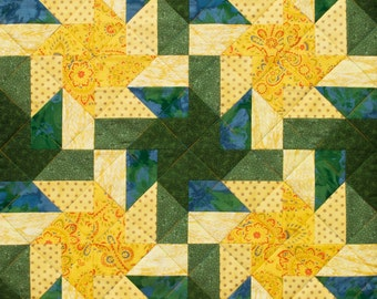 Three Split Sticks Patchwork Quilt Block Pattern