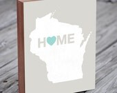 Wisconsin Home - Milwaukee Home - Wisconsin Art - Wood Block Art Print