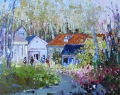 Beaumont, Quebec, canada, gift, home decor, oil painting by Shirley Levie, 12'' X 16''  painting for your home decor