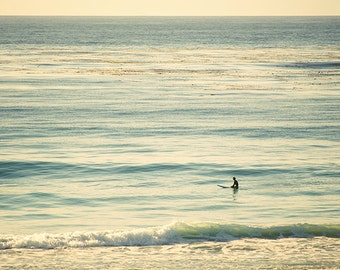 Art, Photography, Wall Art, Summer, Beach Photography, Coastal, Cottage, Surfer, California, Fine Art Print