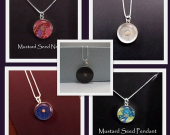 Mustard Seed Necklace / Sterling Silver / Baptism Gift / Christian gift / Faith / Graduation Gift / Gift of Faith / New Mother /