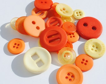Sunshine - Yellow and Orange Stash Boost Buttons - 30g bag