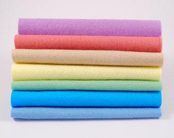 """Fresh Air 6"""", 9"""" OR 12"""" Squares 7 Shades - Wool Blend Felt"""