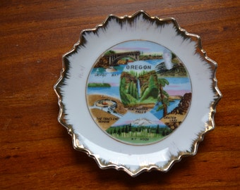 Awesome Vintage Collectable Souvenir Plate - Oregon