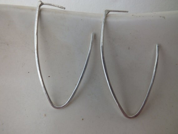 Date Night Hoops----Sterling Silver Triangle