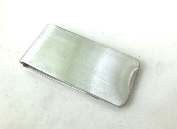 Money Clip  in Nickel  Silver ---Smooth Finish with Satin Texture
