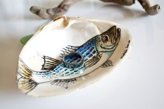 Jewelry Dish Bass Fishing Decor Ring Dish Mens By