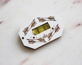 Maple Wood Level Keychain - Engraved Maple Wood Level - Travel Tool