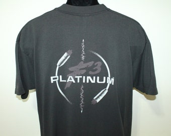 Platinum F3 audio equipment ATS vintage t-shirt XL black 50/50