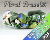 Summer Braid Tutorial - PDF tutorial - summer boho nature inspired cute fairy bracelet bangle earthy floral